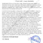 Отзыв разработка и продвижение сайтов ООО 'Профи имидж'